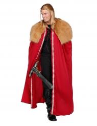 Rode Noordse strijder cape voor mannen