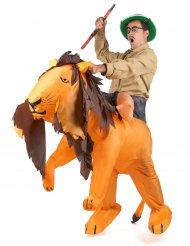 Opblaasbaar leeuw kostuum voor volwassenen