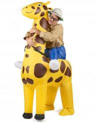 Opblaasbaar giraffe kostuum voor volwassenen