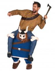 Man op de rug van een viking kostuum voor volwassenen