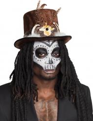 Voodoo hoed met haren voor volwassenen