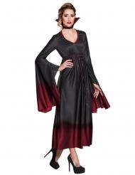 Zwart-rood vampier kostuum voor vrouwen