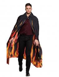 Zwarte vuur cape voor volwassenen