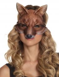 Vossen halfmasker voor volwassenen