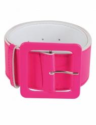Jaren 90 fluo roze riem voor volwassenen