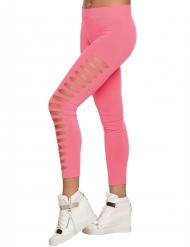 Roze gaten legging voor volwassenen
