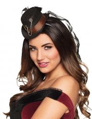 Mini Steampunk hoed met tandwielen voor vrouwen