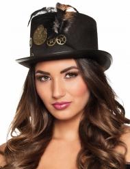 Steampunk hoed met tandwielen voor volwassenen