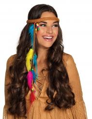 Fluo veren hoofdband voor volwassenen