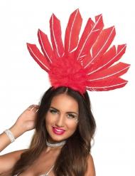Rode Braziliaanse haarband voor vrouwen
