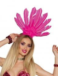Roze veren haarband