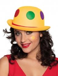 Clown hoed met gele stippen voor volwassenen