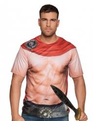 Ontbloot gladiator bovenlichaam t-shirt voor mannen