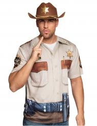 Sheriff T-shirt voor volwassenen