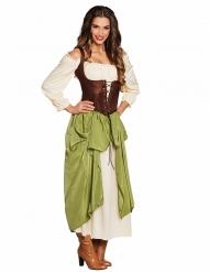 Middeleeuwse barvrouw kostuum