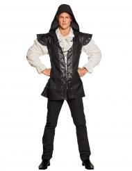 Zwart en wit boswachter kostuum voor volwassenen