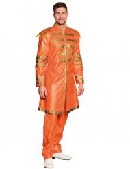 Oranje popster kostuum voor volwassenen