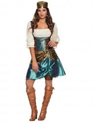 Metallic zigeuner kostuum voor vrouwen