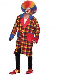 Clown jas met ruiten voor volwassenen