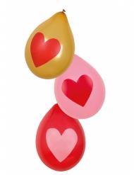 6 Love You hart ballonnen