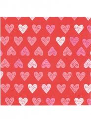 12 papieren servetten met hartjes