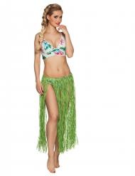 Lange groene Hawaiiaanse rok voor volwassenen