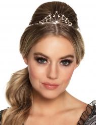Zilverkleurige mini kroon voor vrouwen