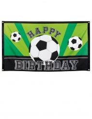 Happy Birthday voetbal banner