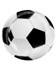 6 kartonnen bordjes voetbal