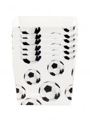 6 kartonnen voetbal bakjes
