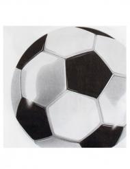 12 papieren servetten met voetbal