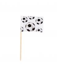 24 voetbal cocktail prikkertjes