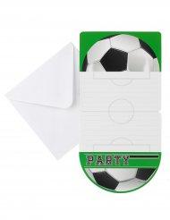 6 Voetbal uitnodigingen