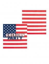 6 Amerikaanse kartonnen bekers