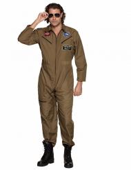 Khaki gevechtspiloot kostuum voor heren