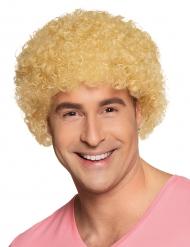 Blonde clown afro pruik voor volwassenen