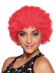 Rode afro clown pruik voor volwassenen