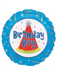Aluminium Birthday Boy ballon