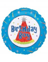 Aluminium Birthday Boy ballon