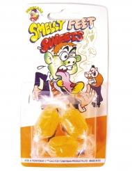 3 snoepjes met voetensmaak