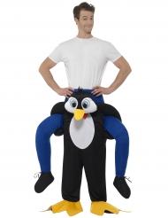 Pinguïn carry me kostuum voor volwassenen