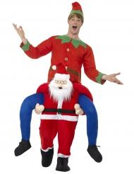 Kerstman piggyback kostuum voor volwassenen