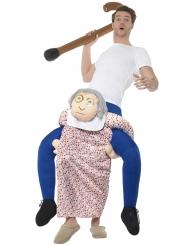 Oma carry me kostuum voor volwassenen