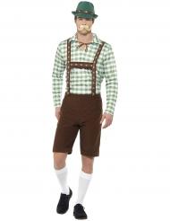 Groen en bruin Beiers kostuum voor volwassenen