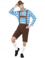 Blauw en bruin Beiers kostuum voor volwassenen