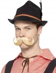 Zwarte Beierse hoed met Duitse rand voor volwassenen