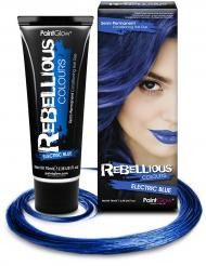 Elektrisch blauwe haarkleur
