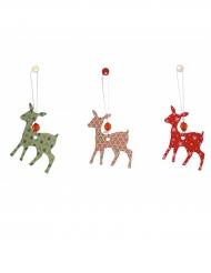 6 herten decoraties voor kerst