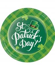 8 kartonnen bordjes St. Patrick