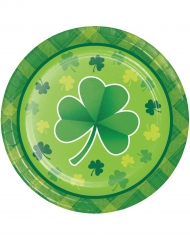 8 kleine kartonne bordjes St. Patrick